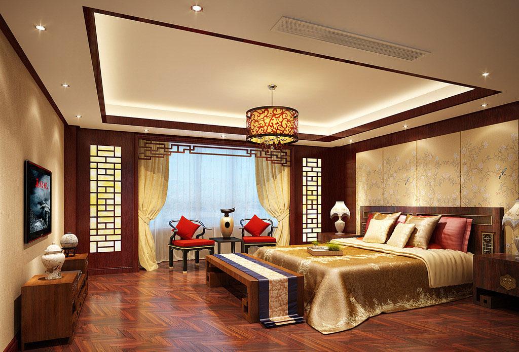 十种赏心悦卧室中式风格装饰-浩天装饰