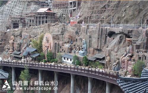 梅州观音雕塑文化墙