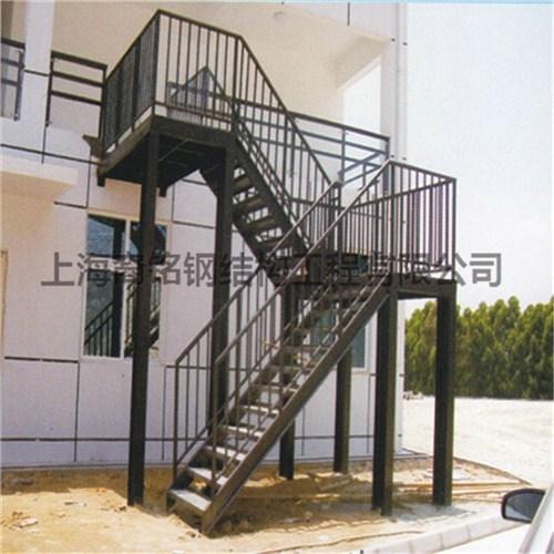 上海铁艺栏杆扶手安装 钢结构楼梯设计制作 裔铭供