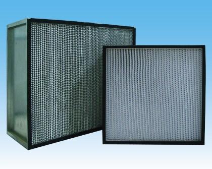 专业生产镀锌框有隔板空气过滤器 单法兰有隔板 双法兰有隔板