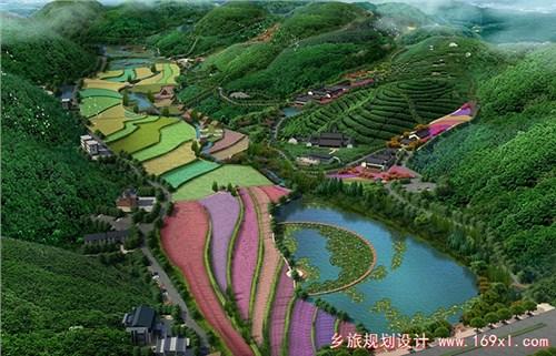 山庄度假区景观,休闲集散广场,农业旅游商业景观,游憩节点,园林绿化