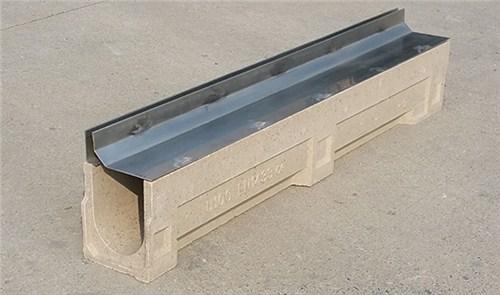 缝隙式排水槽U型线性成品树脂预制混凝土排水沟可配铸铁盖板D400