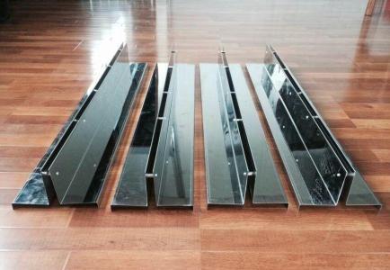 成品线性排水沟U150缝隙式排水沟 中单缝式盖板 镀锌钢盖板
