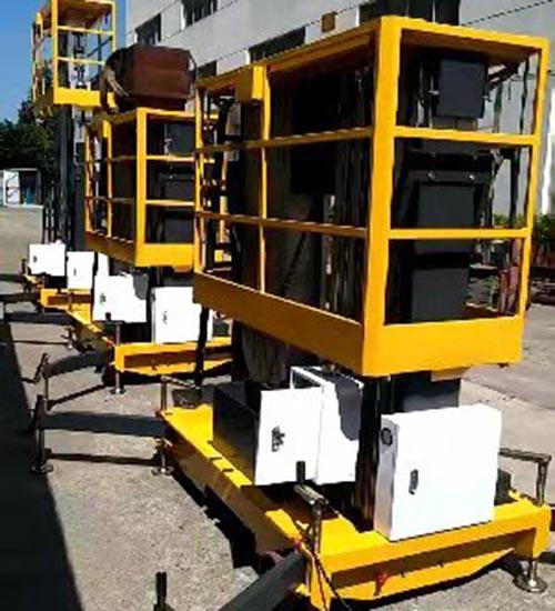 河北双桅铝合金升降机 卓钢升降机械供应