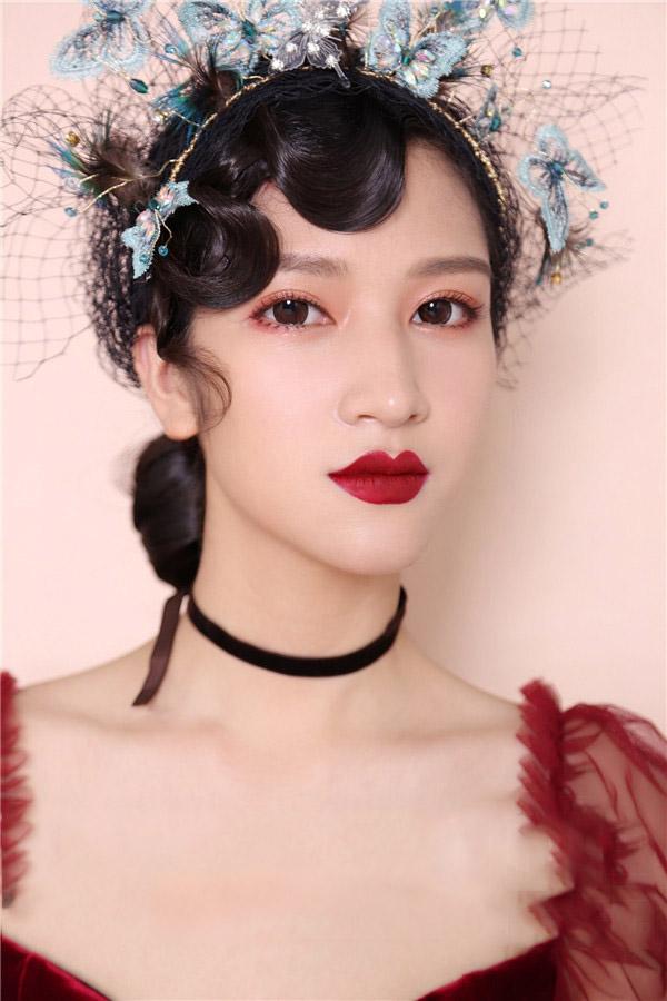 中式新娘妆培训课程「新形象摄影化妆学校」图片