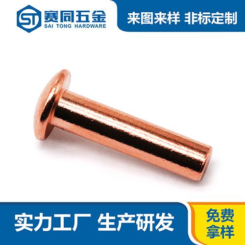 平頭紫銅鉚釘生產廠家 東莞市賽同五金制品供應