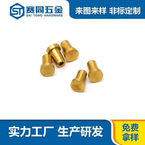 广东黄铜半空心铆钉子价格 东莞市赛同五金制品供应