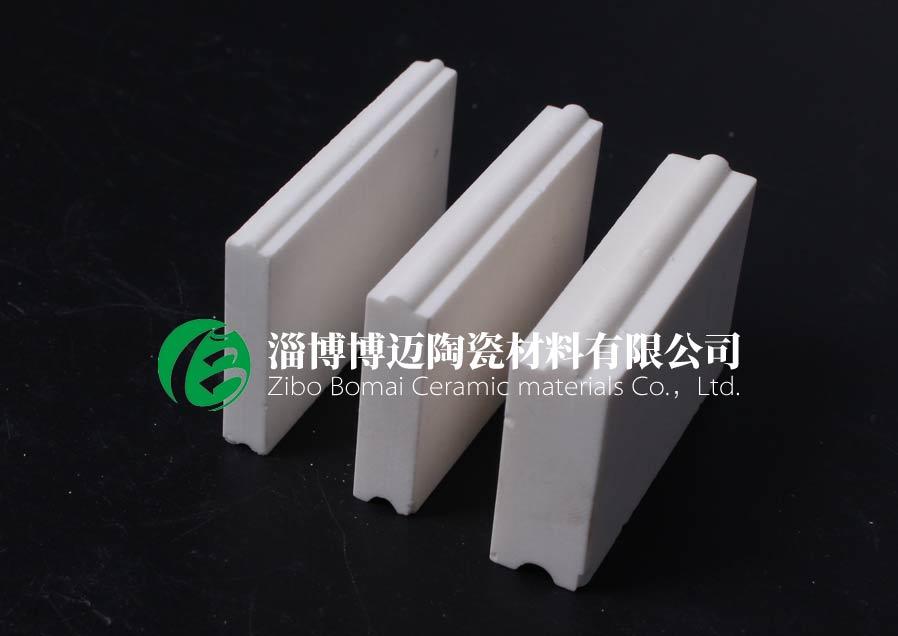 上海干灰风机叶轮耐磨陶瓷衬片规格 客户至上 淄博博迈陶瓷材料供应
