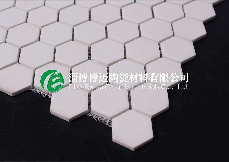 上海水泥厂溜槽用耐磨陶瓷衬片安装方案 客户至上 淄博博迈陶瓷材料供应