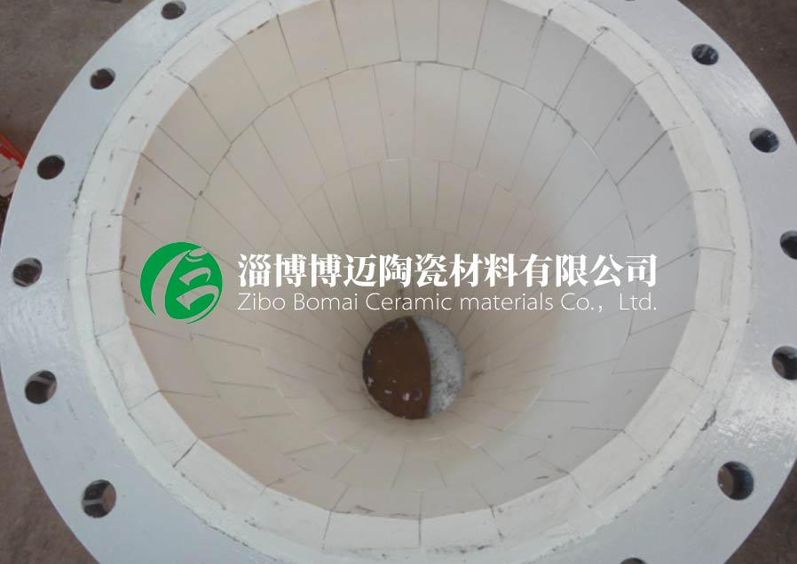 上海水泥厂煤粉弯头用耐磨陶瓷管道弯头定制 优质推荐 淄博博迈陶瓷材料供应