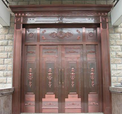 镇江雕花铜门定制 欢迎来电 淮安市信和铜门供应