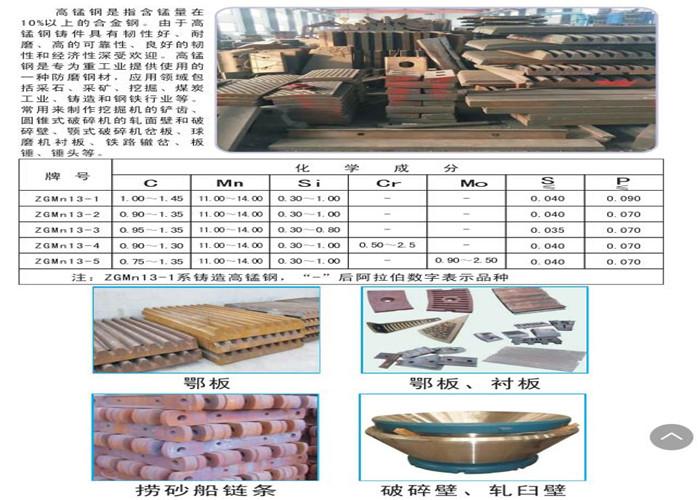 阿勒泰正品高锰钢 欢迎咨询 新疆湘泉耐磨合金钢制造供应