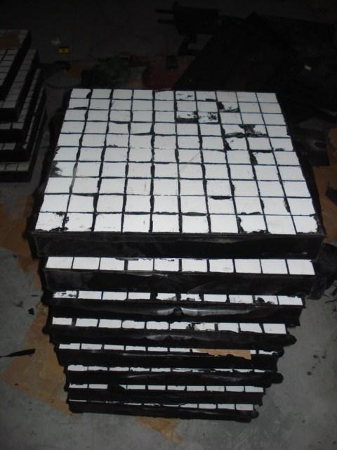 博迈陶瓷橡胶复合板 落煤管抗冲击耐磨陶瓷复合板