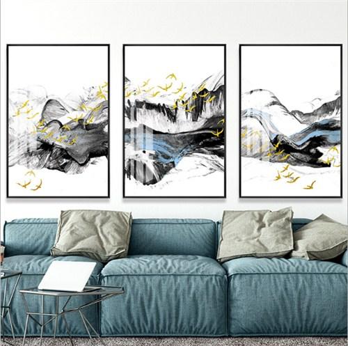 山水剪纸画