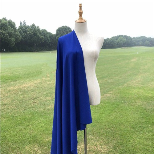 宝蓝色深蓝色针织罗马布四面弹力双面服装打底裤子面