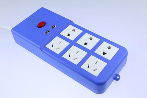 插线板带安全门带USB新国标排插 家用多功能插排