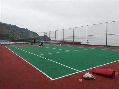 网球场橡胶地面施工