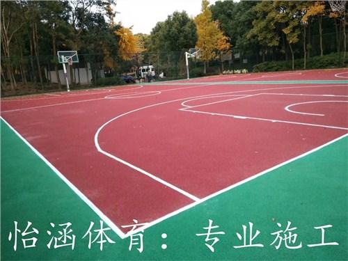 篮球场橡胶地面施工