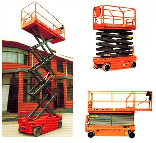 液压升降平台特点:1,整机重量轻,机动性好,适合单人操作;2,特制的桅柱图片