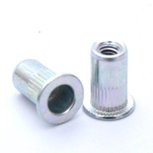 提供,上海碳鋼平頭圓柱豎紋鉚螺母,規格,廠家,勝爍供