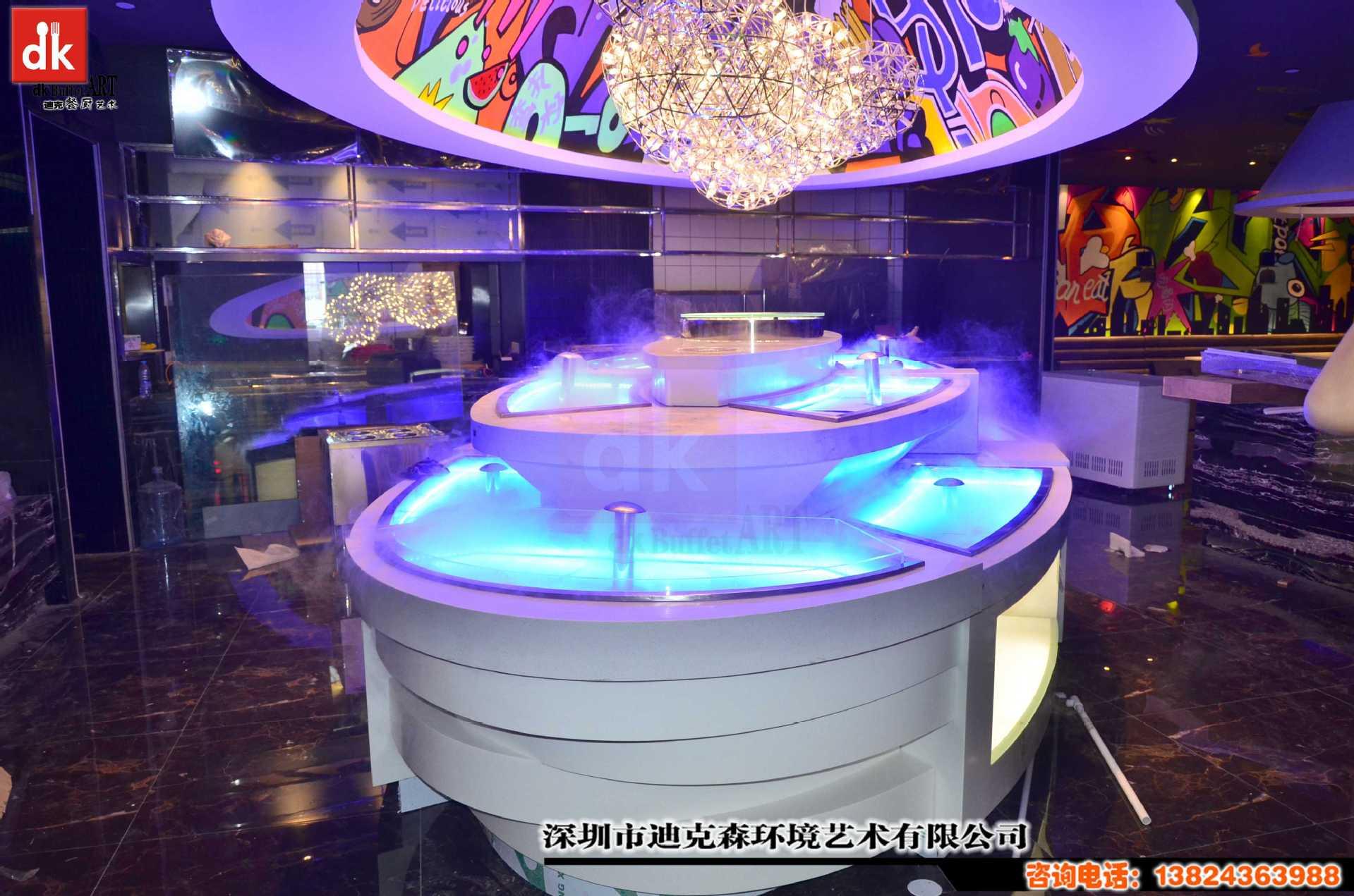 餐厅装修设计供应自助餐台海鲜冰槽迪克森供