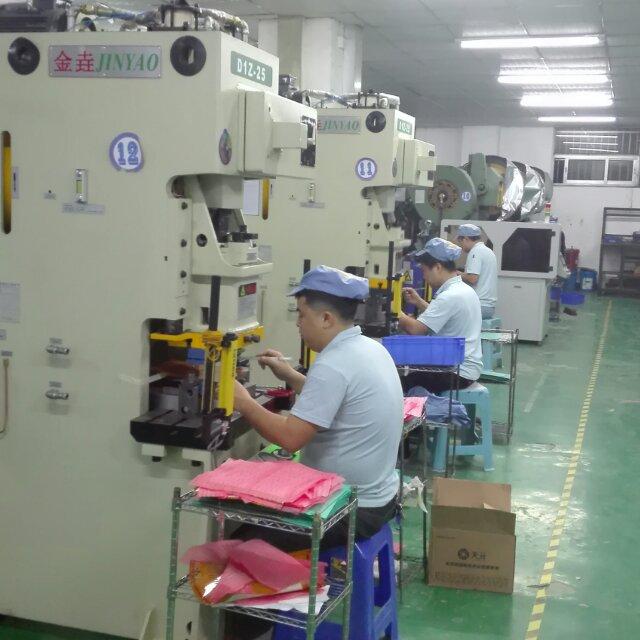 热烈庆祝我司与龙川**电路板科技有限公司签定首期五台d1z-25吨冲床