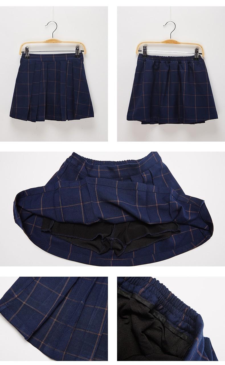 画校服裙子的步骤