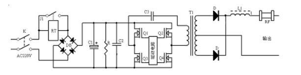 逆变弧焊电源整机方框图