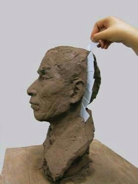 雕塑的翻模制作过程