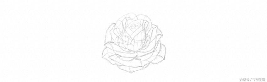 手绘手绘心形轮廓图
