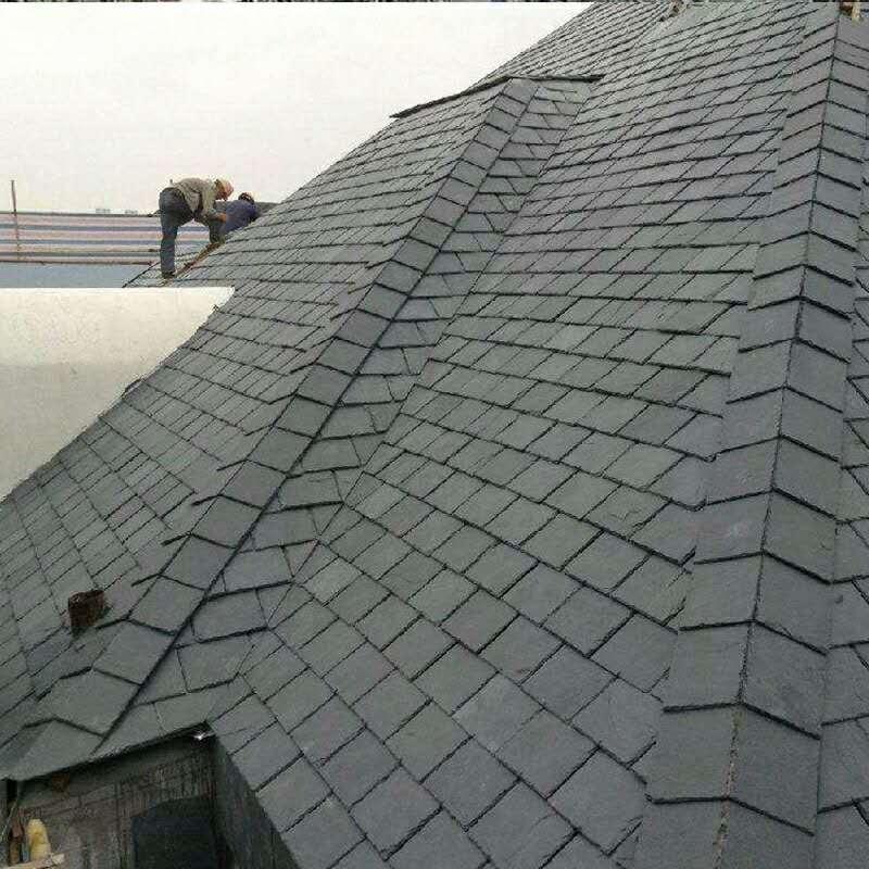 别墅石板瓦,屋面石板瓦,仿古瓦