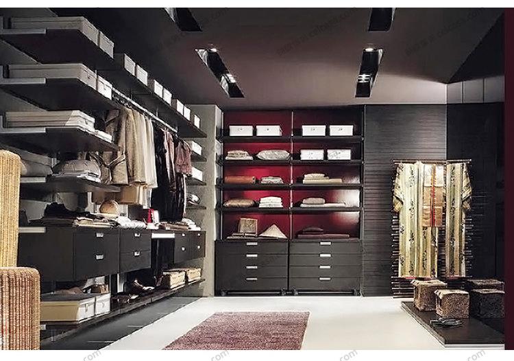 整体衣帽间定制 卧室衣柜衣帽间 时尚北欧风 步入式衣帽图片