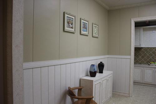 竹木纤维集成墙板电视背景墙的优势在于系统集成,使得装修过程非常