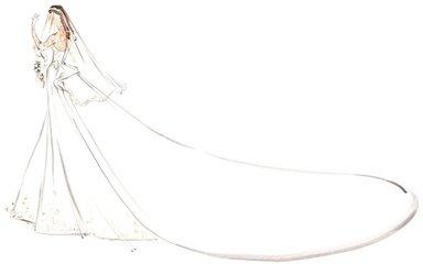 最美的婚纱图片素描画_婚纱素描画