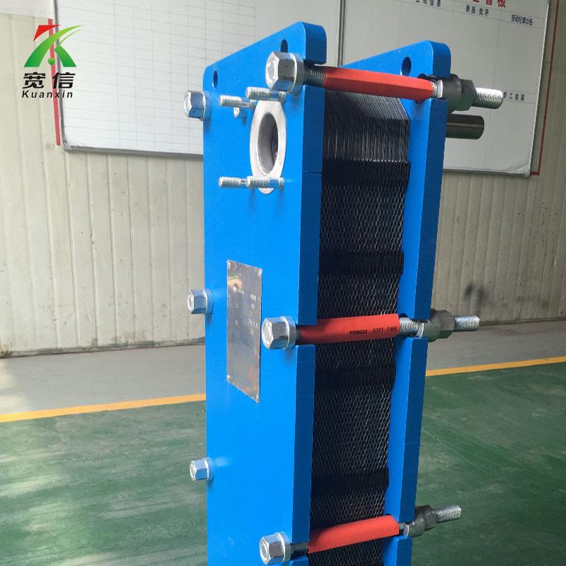 合肥宽信供应的板式换热器 板式换热器的基本结构:主要由框架和板片两