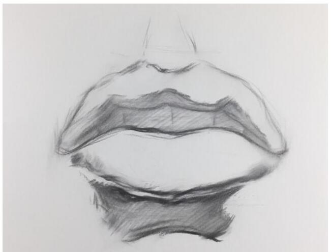 素描嘴唇的画法 绘画素描教程视频 素描视频教程视频图片