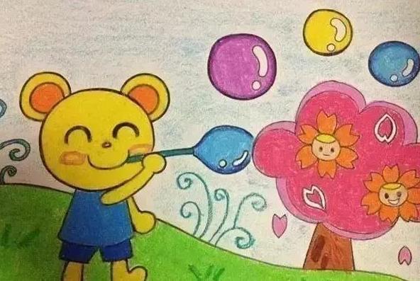 大海动物 儿童手工画