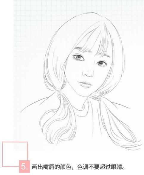 > 素描头像绘制教程,头像要用自己