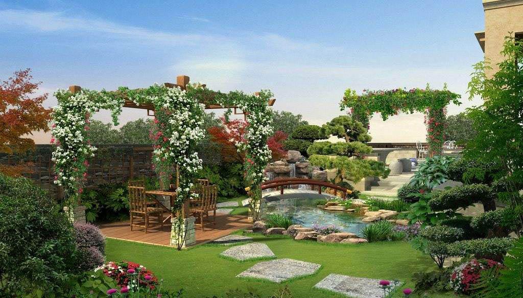 大景私家花园设计,轻松享受精彩生活