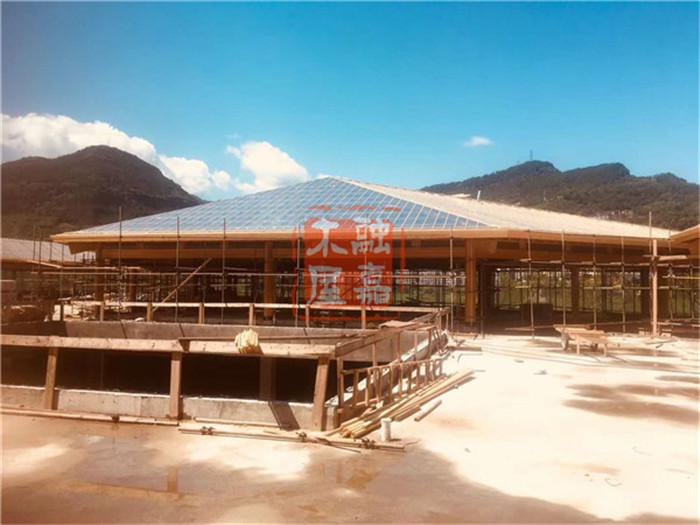 木结构传统建筑中木屋设计的融合