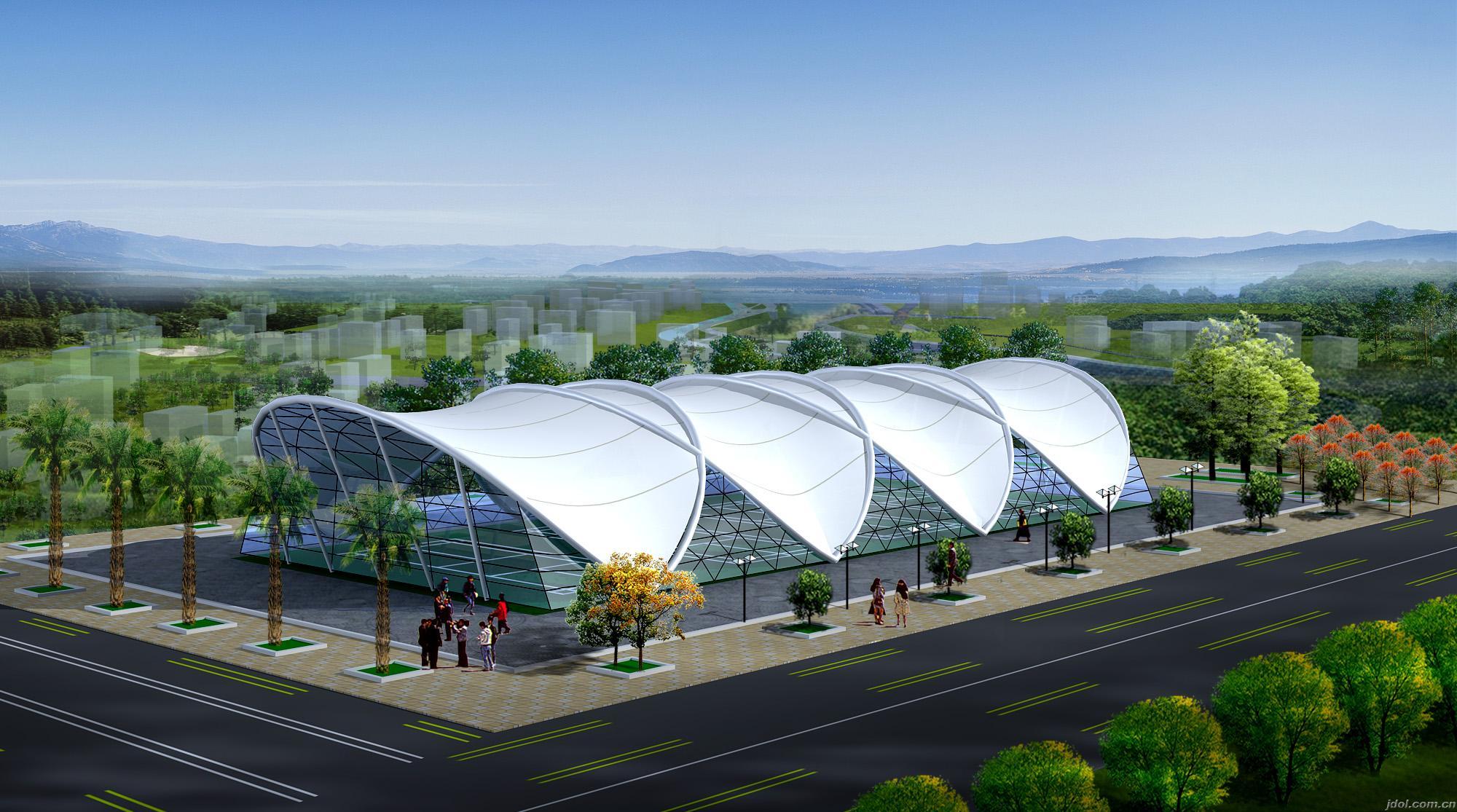 上海优质膜结构车棚,设计,厂家-上海奉銮供
