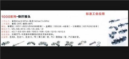 批发 AIGNEP气动元器件 1000系列 接头 阿曼达供