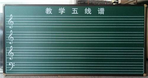 教学五线谱黑板