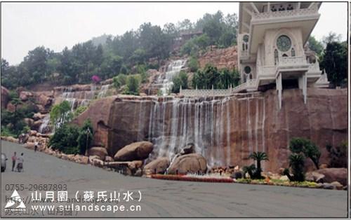 梅州客天下酒店假山瀑布景观
