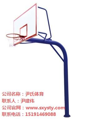 北京地埋圆管单臂固定篮球架价格