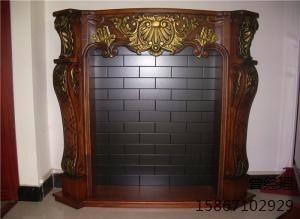 红棕色欧式壁炉