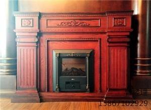 红棕色室内壁炉