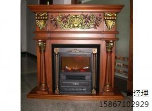 红棕色装饰壁炉