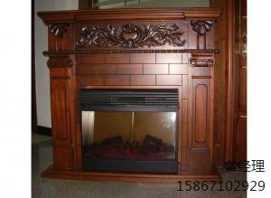 红棕色别墅壁炉