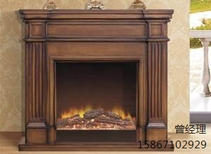 红棕色家庭壁炉